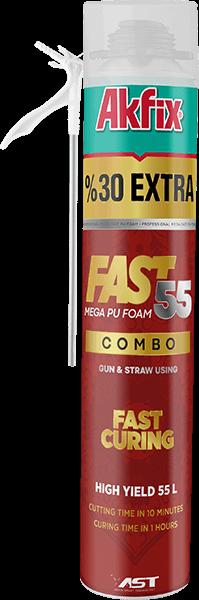 Fast 55 Быстротвердеющая Универсальная Полиуретановая Пена 2 в 1 (ручная & пистолетная)
